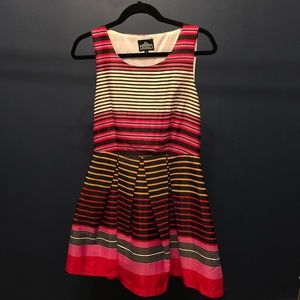 Angie Colorfully Striped Dress